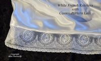 Snow White Satin & Lace French Cami Knickers with Deep Lace Trim - UK 10/12 to 26/28